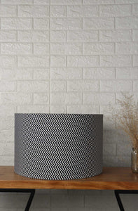 Zigzag Print Drum Lampshade for Table Lamp in [5 Sizes]