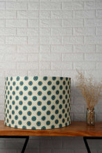 Load image into Gallery viewer, Mandala Print Green Drum Lampshade for Table Lamp