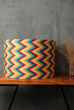 Load image into Gallery viewer, Vibrant Zigzag Print Drum Lampshade for Table Lamp in [5 Sizes]