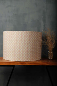 Diamond Print Drum Lampshade for Table Lamp in [5 Sizes]