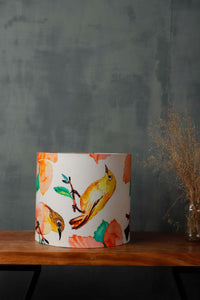 Bird Print Drum Lampshade for Table Lamp in [5 Sizes]