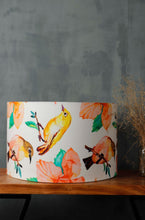 Load image into Gallery viewer, Bird Print Drum Lampshade for Table Lamp in [5 Sizes]
