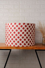 Load image into Gallery viewer, Mandala Print Red Drum Lampshade for Table Lamp