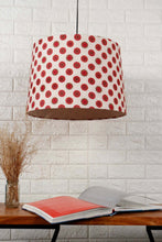 Load image into Gallery viewer, Mandala Print Red Hanging Lampshade in [4 Shapes]