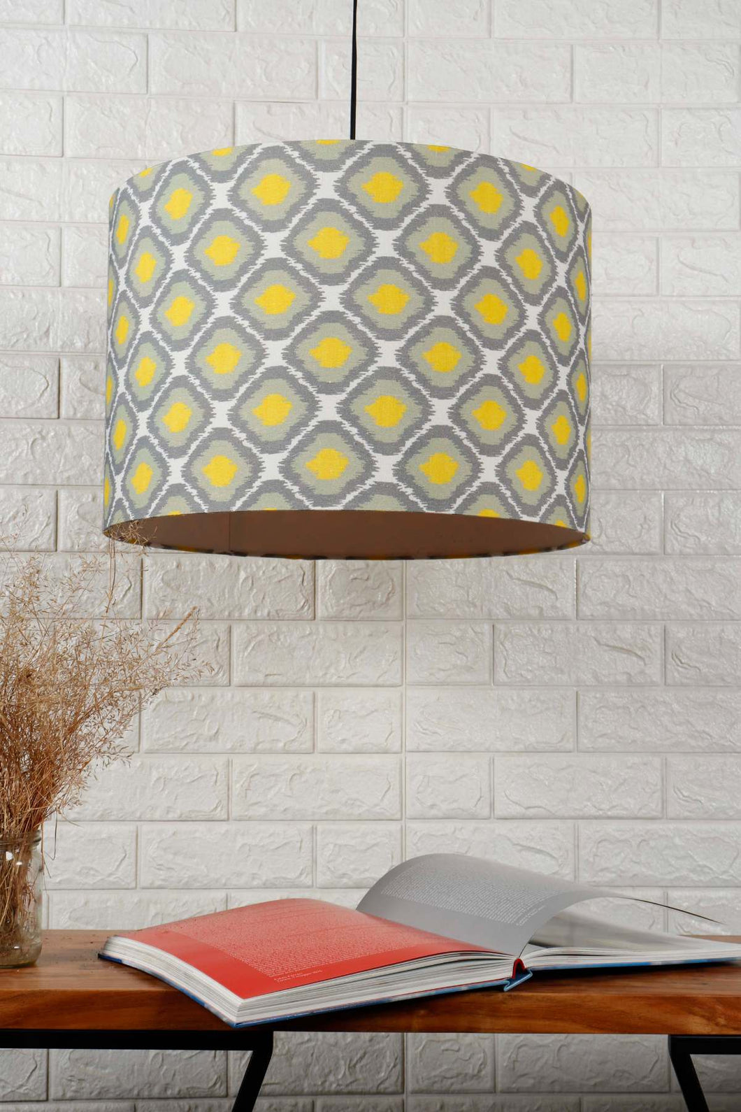 Diamond Print Green Hanging Lampshade in [4 Shapes]