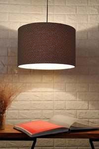Black & White Zigzag Print Hanging Lampshade in [4 Shapes]