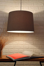 Load image into Gallery viewer, Black & White Zigzag Print Hanging Lampshade in [4 Shapes]