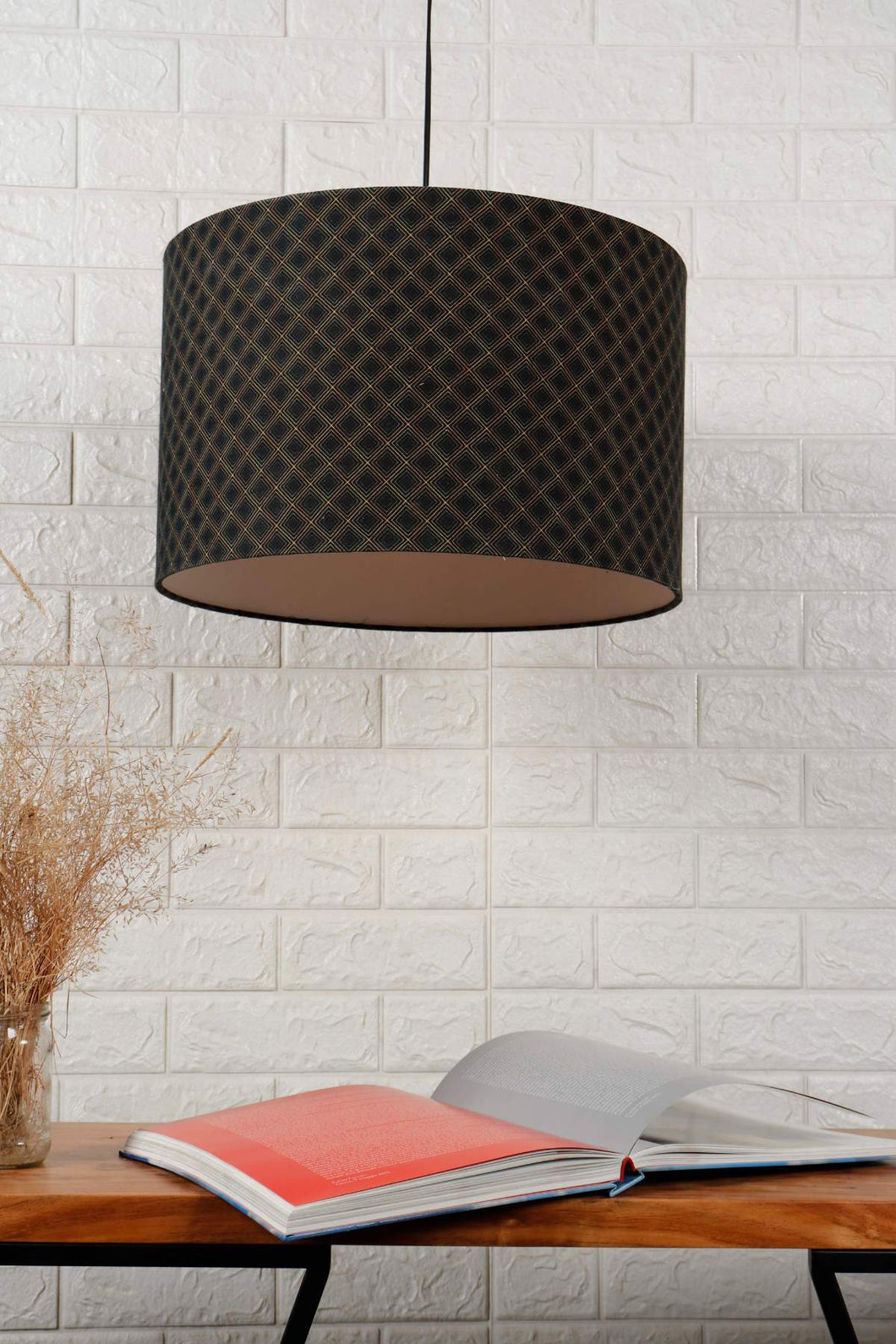 Diamond Print Hanging Lampshade in [4 Shapes]