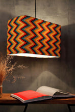Load image into Gallery viewer, Vibrant Zigzag Print Hanging Lampshade in [4 Shapes]