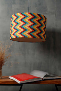 Vibrant Zigzag Print Hanging Lampshade in [4 Shapes]