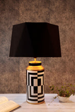 Load image into Gallery viewer, Posh Table Lamp with Hexagon Lampshade 2 [BLACK, RUGGED ORANGE]
