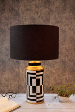 Load image into Gallery viewer, Posh Table Lamp with Drum Black Lampshade
