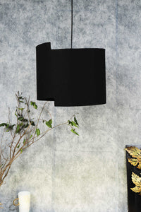 Newly Design Black Cotton Lampshade for Table Lamp (15inches)