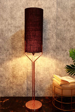 Load image into Gallery viewer, Veins Lamp Stand with Long Classic Black Lampshade