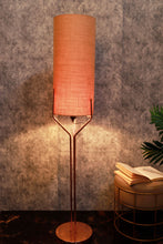 Load image into Gallery viewer, Veins Lamp Stand with Long Wheat Brown Lampshade