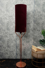 Load image into Gallery viewer, Veins Lamp Stand with Long Velvet Fabric Lampshade