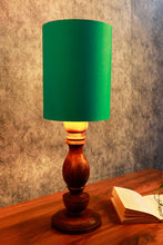 Load image into Gallery viewer, Shady Brown Table Lamp with 2 Long [YELLOW, AQUA GREEN] Shade