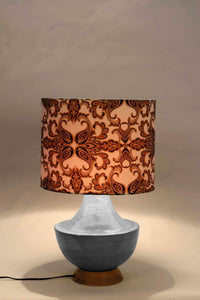 inexpensive grey table lamp