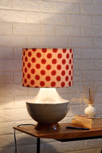 Load image into Gallery viewer, Grey Genie Table Lamp with Red Printed Shade