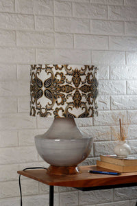 table lamp with grey shade