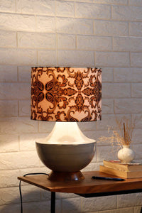 large grey table lamp vintage