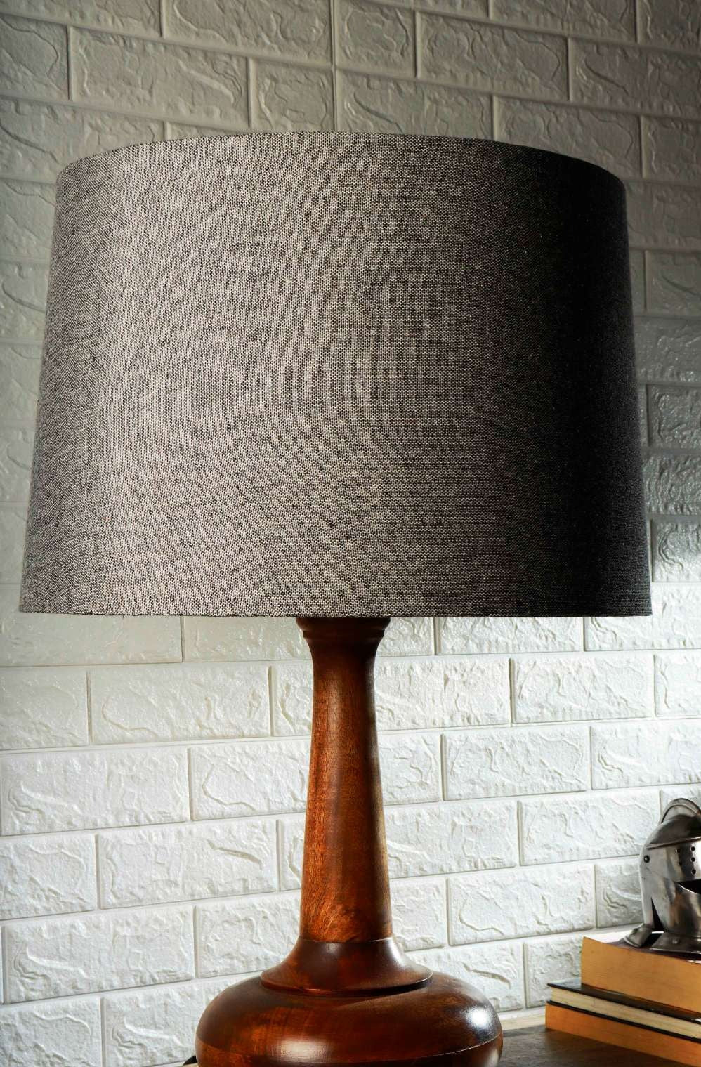 Grey Velvet Frustum Lampshade for Lamps