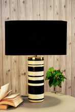 Load image into Gallery viewer, Duality Table Lamp with BLACK Shade in [3 SIzes]