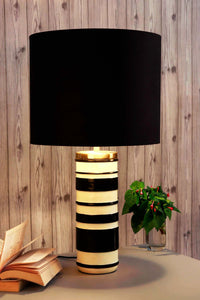 Duality Table Lamp with BLACK Shade in [3 SIzes]