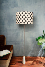 Load image into Gallery viewer, Marble Arrow Lamp Stand with Polka Dots Lampshade (Long, Small)