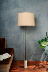 Marble Arrow Lamp Stand with Beige Color Lampshade