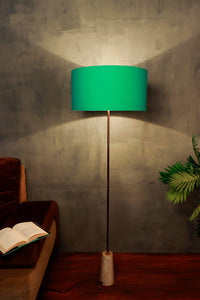 Marble Arrow Lamp Stand with Round Mint Green Lampshade
