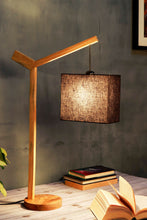 Load image into Gallery viewer, Small Ozzy Table Lamp with Rectangular Black Lampshade