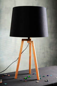 Small Madison Lamp Stand with Tapered Classic Black Lampshade