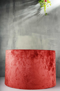 Big Round Rugged Red Cotton Lampshade  (19inches)