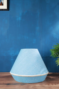 light blue lampshade