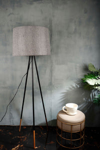 Joss Stick Lamp Stand in 3 [YELLOW, PINK VELVET, GREY] Lampshade