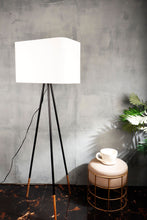 Load image into Gallery viewer, Joss Stick Lamp Stand in 2 Rectangular [WHITE, BEIGE] Shade