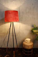 Load image into Gallery viewer, Joss Stick Lamp Stand with Tapered Rugged Orange Lampshade