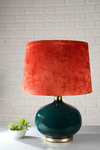 Load image into Gallery viewer, Green Womb Table Lamp with 3 [BLACK, GREEN VELVET, ORANGE] Shade