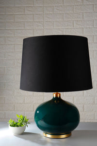 Green Womb Table Lamp with 3 [BLACK, GREEN VELVET, ORANGE] Shade