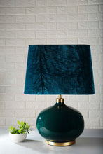 Load image into Gallery viewer, Green Velvet Lampshade