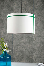 Load image into Gallery viewer, Green Striped White Hanging Shade in 3 size [SMALL, MEDIUM, LARGE]