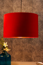 Load image into Gallery viewer, Drum Shaped Hanging Shade in 3 [BLACK, RED, RED VELVET] Colors