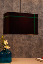 Load image into Gallery viewer, Rectangular Black Hanging Shade in 2 [RED & GREEN] Stripes