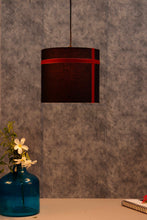 Load image into Gallery viewer, Red Striped Black Hanging Shade in 2 size [SMALL, LARGE]
