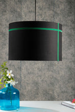 Load image into Gallery viewer, Green Striped Black Hanging Shade in 2 size [SMALL, LARGE]