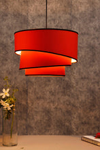 Load image into Gallery viewer, Red Rose Hanging Lampshade