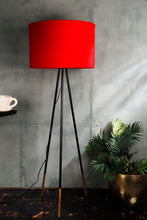 Load image into Gallery viewer, Joss Stick Lamp Stand in 3 Round [BLACK, RED, RUGGED ORANGE] Shade