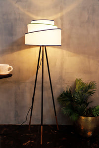 Joss Stick Lamp Stand with White Multi-layer Lampshade