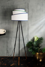 Load image into Gallery viewer, Joss Stick Lamp Stand with White Multi-layer Lampshade